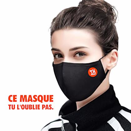 masque coronavirus lavable ré utilisable pour le sport